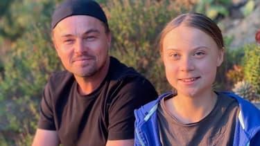 Leonardo Di Caprio et Greta Thunberg