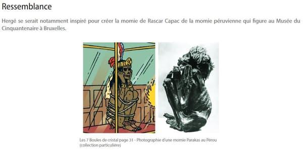 Rascar Capac, sur le site officiel de Tintin.