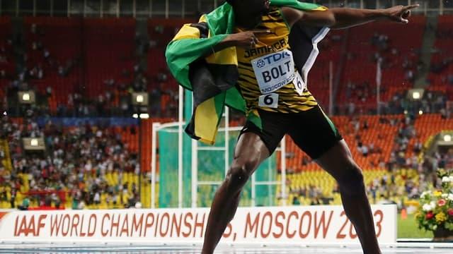 Usain Bolt double la mise à Moscou