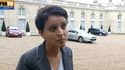 La ministre du Droit des femmes Najat Vallaud-Belkacem, à la sortie du conseil des ministres