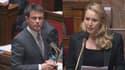 Manuel Valls et Marion Maréchal-Le Pen se sont affrontés mardi à l'Assemblée.
