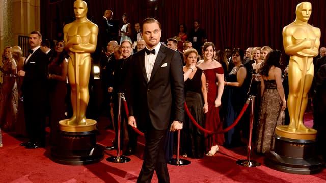 Leonardo DiCaprio sur le tapis rouge lors de la cérémonie des Oscars en 2014