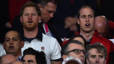 Le Prince Harry et le Prince William ont assisté ensemble au match Angleterre/Pays de Galles