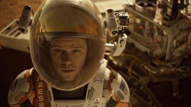 """Matt Damon, héros perdu de """"Seul sur Mars"""" de Ridley Scott."""