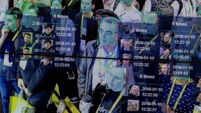 Intelligence artificielle et reconnaissance faciale. CES 2019.