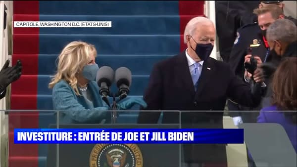 Joe Biden, son épouse, et Barack Obama