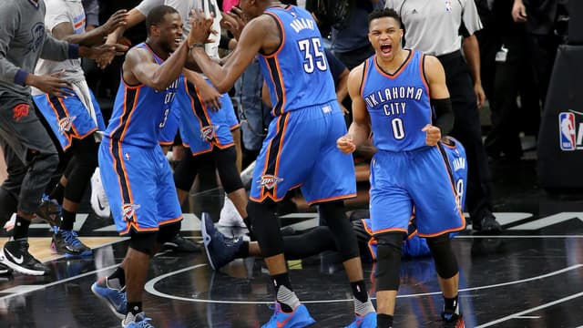 Dion Waiters, Kevin Durant et Russell Westbrook