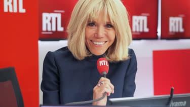 Brigitte Macron lors de son interview à RTL