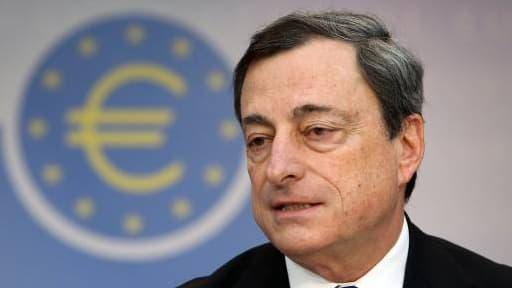 Mario Draghi, lors de la conférence de la BCE de décembre dernier.