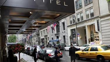 L'hôtel Sofitel de New York. Des traces d'ADN correspondant à celui de Dominique Strauss-Kahn, accusé de tentative de viol par la justice américaine, ont été retrouvées sur les vêtements de la plaignante, selon la presse américaine. /Photo prise le 15 mai