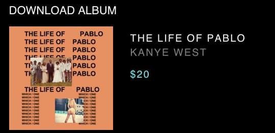 The Life Of Pablo est vendu au prix fort.