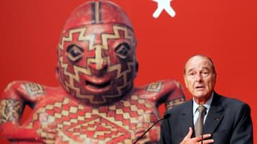Jacques Chirac à l'inauguration du musée du quai Branly en 2006.