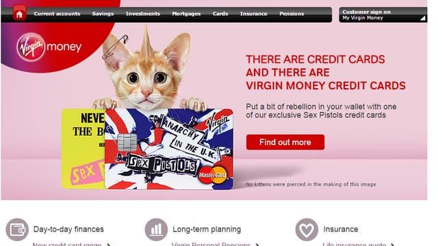 Les cartes bancaires à l'effigie des Sex Pistols
