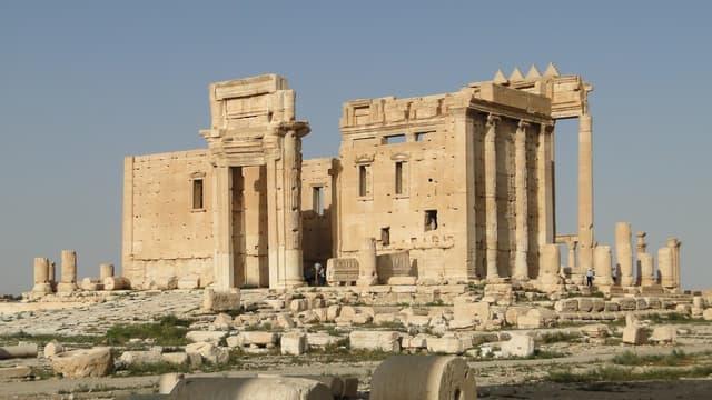 Le temple de Bel, construit au 1er siècle, à Palmyre.
