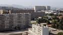 Vue des quartiers nord de Marseille, où ont eu lieu les cambriolages.