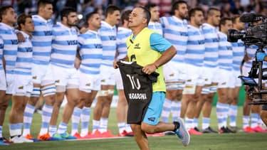 Diego Maradona honoré avant le match Argentine-Nouvelle Zélande