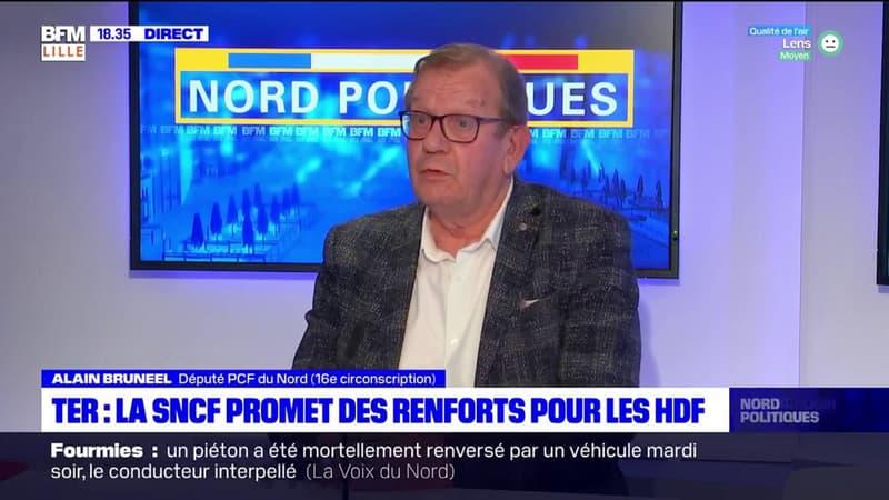 Hauts-de-France: pour le député Alain Bruneel, le service de la SNCF s'est dégradée à cause des suppressions de postes et de la mise en concurrence
