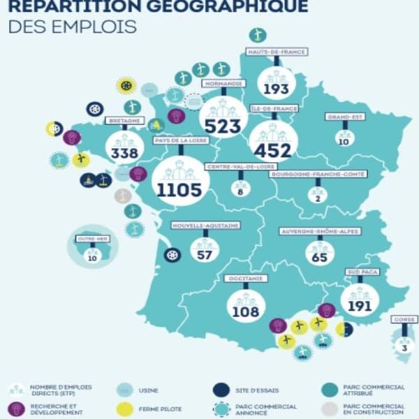 La filière des énergies marines renouvelables a franchi en 2019 la barre des 3.000 emplois en France.