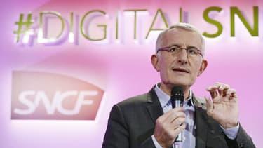 Guillaume Pépy, PDG de la SNCF prévoit d'investir 450 millions d'euros sur trois ans pour mener à bien la transformation numérique de l'entreprise ferroviaire.