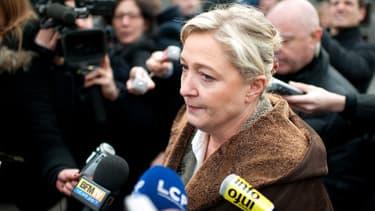 Marine Le Pen se félicite de l'augmentation des adhésions au Front national, durant la crise à l'UMP.