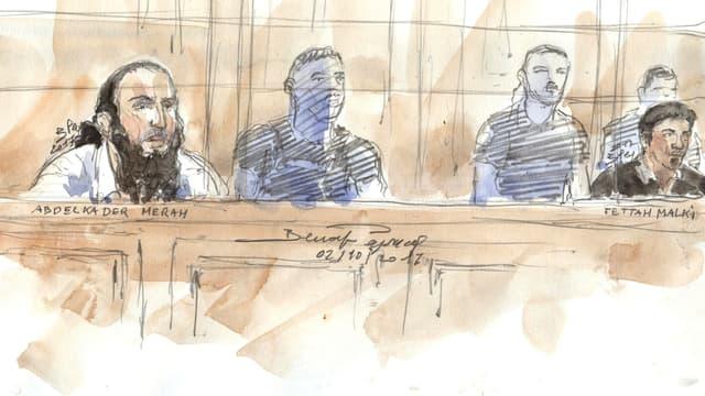 """Abdelkader Merah est jugé pour """"complicité d'assassinats en relation avec une entreprise terroriste""""."""