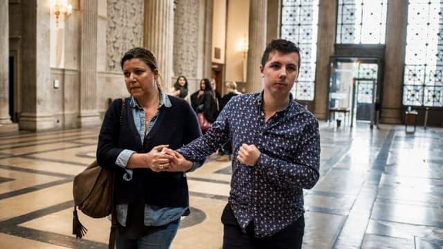 Marin arrive à la cour d'Assises de Lyon le 3 mai 2018