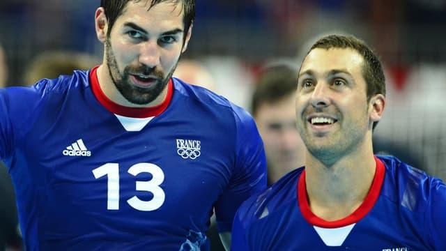 Nikola Karabatic et Michael Guigou
