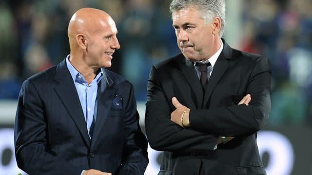 Arrigo Sacchi aux côtés de Carlo Ancelotti