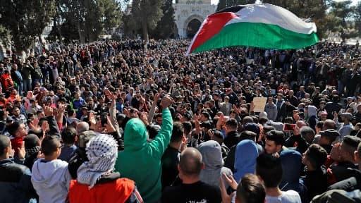 Image d'illustration de manifestations dans la ville de Jérusalem le 8 décembre 2017