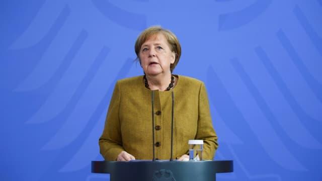 La chancelière allemande Angela Merkel à Berlin le 13 avril 2021