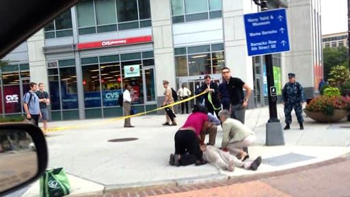 Une photo des lieux juste après la fusillade, prise par un passant.