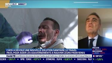 """Déconfinement: un vaccin obligatoire dans les aéroports """"un peu prématuré"""" selon Alexandre de Juniac (Iata)"""