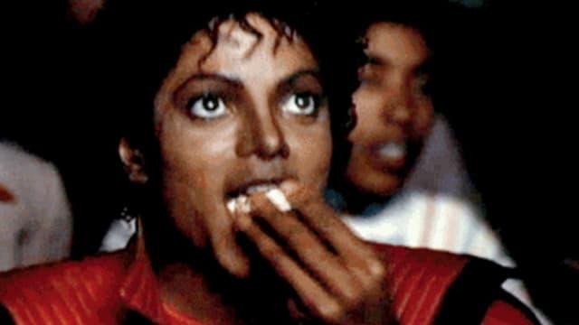 """Michael Jackson dans le clip de """"Thriller"""" en 1983."""