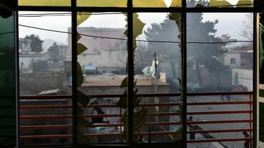 Explosion d'un bus dans le centre de Kaboul, en Afghanistan, le 13 mars 2017