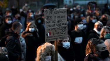 Marche en hommage à Samuel Paty, le 20 octobre 2020, à Conflans-Sainte-Honorine