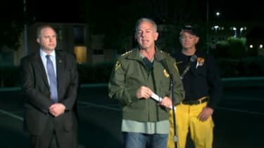 Le shériff Joseph Lombardo a donné un bilan provisoire de la fusillade à Las Vegas.