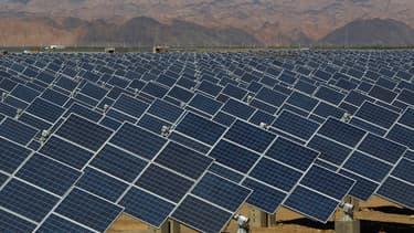 Une ferme photovoltaïque en Chine.