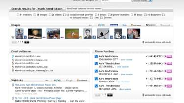 123people était un agrégateur qui rassemblait les informations sur une personne disponibles sur le web