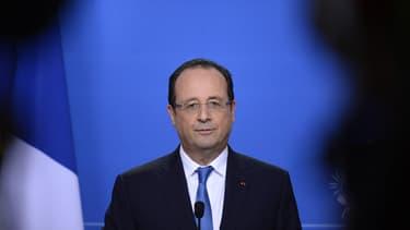 François Hollande lors du Sommet européen à Bruxelles en Belgique le 20 décembre 2013.