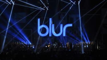 Blur lors des BRIT Awards 2012, à Londres.