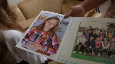 La petite Kaena 9 ans et atteinte d'une tumeur grave au cerveau