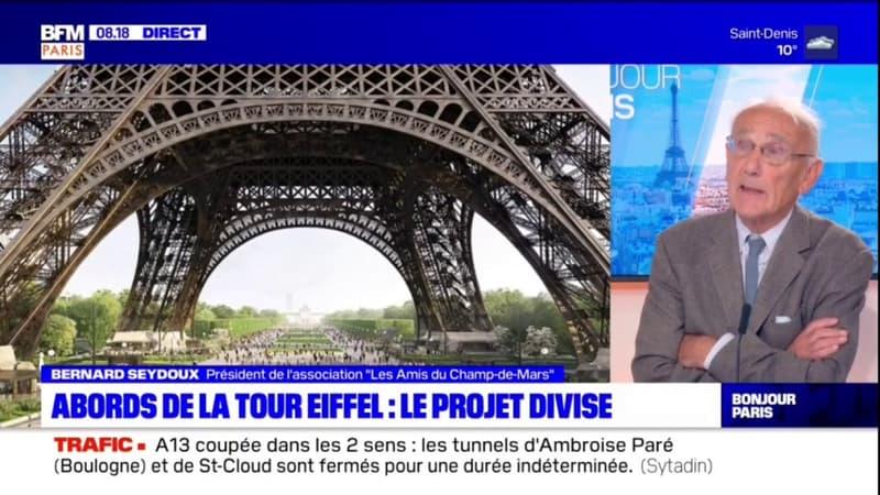 """Paris: """"Les amis du Champ-de-Mars"""" déplorent """"une suppression assez considérable d'espaces verts"""" aux abords de la Tour Eiffel"""