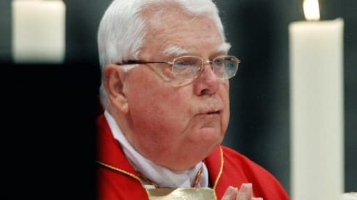 Photographie du cardinal Bernard Law au Vatican, le 11 avril 2005