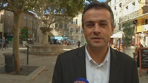 Laurent Lopez, candidat Front national, au second tour de la cantonale partielle à Brignoles.