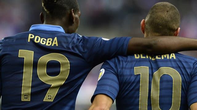 Paul Pogba et Karim Benzema