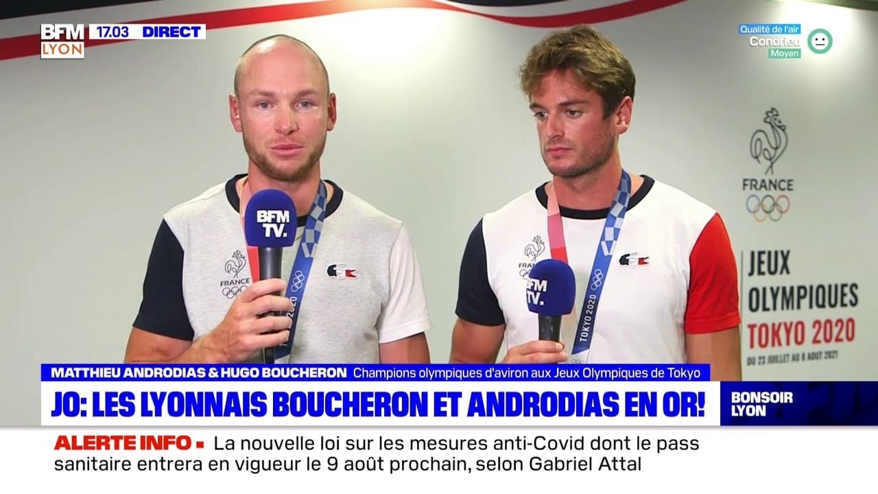 JO : Les Lyonnais Boucheron et Androdias en or