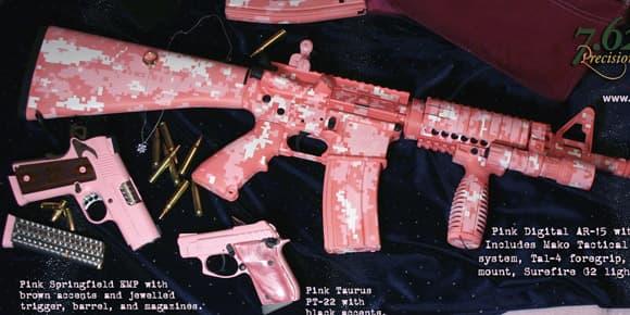 L'AR-15 existe aussi pour filles.