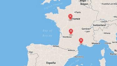 Six membres de l'ETA ont été arrêtés mardi à Blois, Montpellier et Brive-la-Gaillarde, a annoncé le ministère de l'Intérieur.