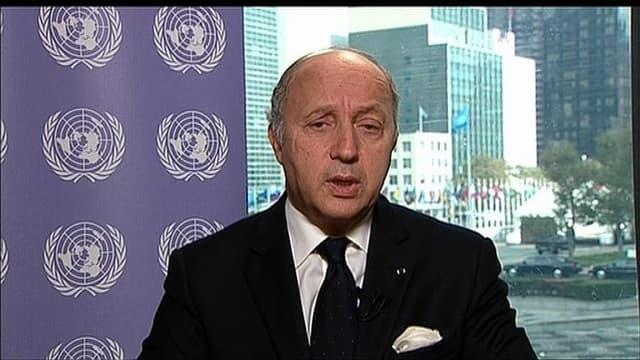 Laurent Fabius au siège de l'ONU à New York