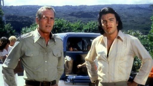 """Paul Newman et Edward Albert dans """"Le jour de la fin du monde"""", en 1980."""
